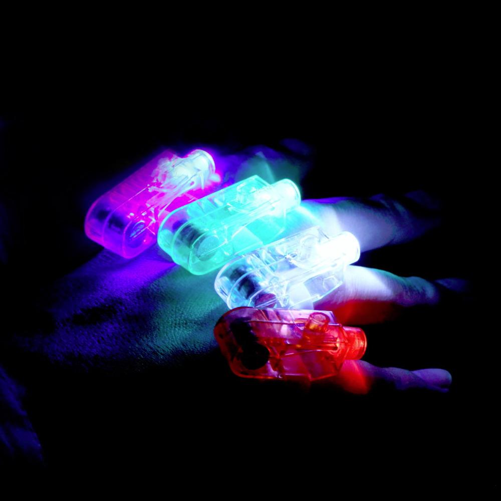 Hot 4pcs Party LED Finger Light Laser Finger Beams Ring Torch For Wedding Celebration Mix Color Decoration Lighting hot sales(China (Mainland))