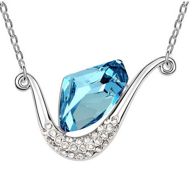 Original SWAROVSKI ELEMENTS Pendant Necklaces Crystal with SWAROVSKI Eternal Summer Design Statement Necklace for Women Jewelry(China (Mainland))