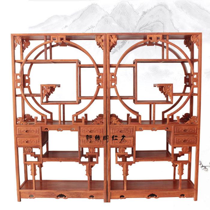 New House edge mahogany furniture antique Chinese wood frame racks study of African rosewood Shelf Treasure House(China (Mainland))