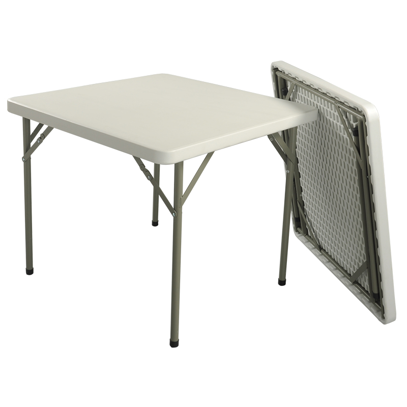 HDPE plastic square folding table for hotels restaurant home and outdoor 86F(China (Mainland))