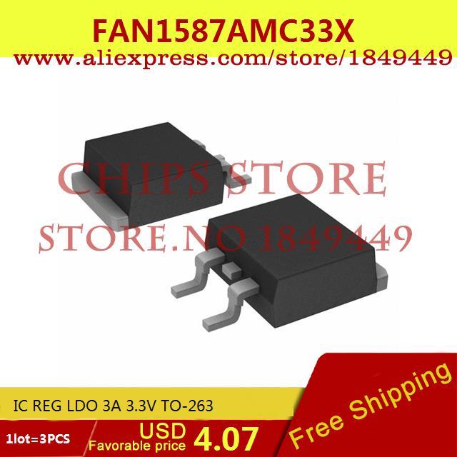 Бесплатная Доставка Электронный FAN1587AMC33X IC REG LDO 3А 3.3 В TO-263 1587 FAN1587 3 ШТ. мегафон amc se116 продам киев