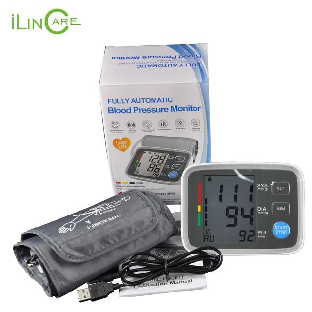 Манжета Цифровой Монитор Артериального Давления тонометр прибор для измерения кровяного давления сфигмоманометр pulsometros Health Monitor для сердца крови
