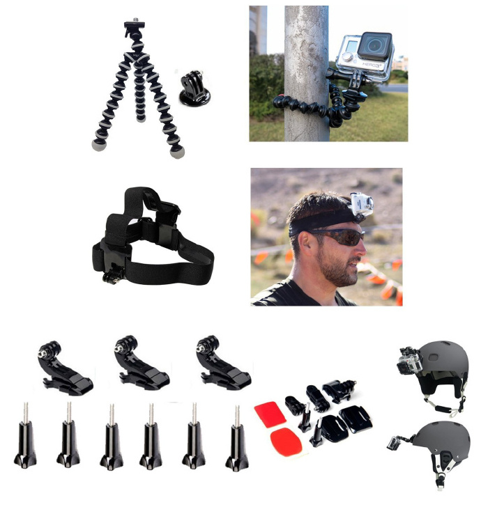29 in1 Mount Kit Set Floating Monopod Accessories For Xiaomi YI GoPro Hero 4/3+/3 Camera