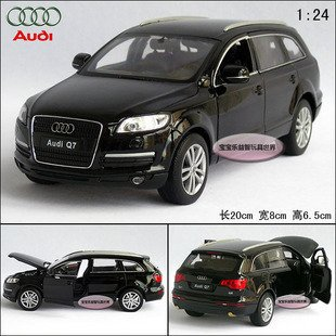 AUDI Q7 1:24 Alloy Diecast Car Model Toy Collection Box Black B100a - Dreamhouse store