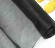 Black Nice Pure Silk Organza Fabric (Hard Stiff Silk Tulle Fabric) 112cm Wide By the Meter (1 Yard 3 inch)(China (Mainland))