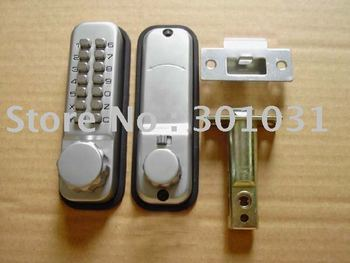 mechanical door lock, keypad lock with sliver and glod color available