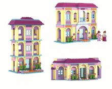 Friends Girls Series Model Toys Minifigures Garden Villa  Building Blocks Sets classic Bricks toys  Compatible With Lego,P02(China (Mainland))
