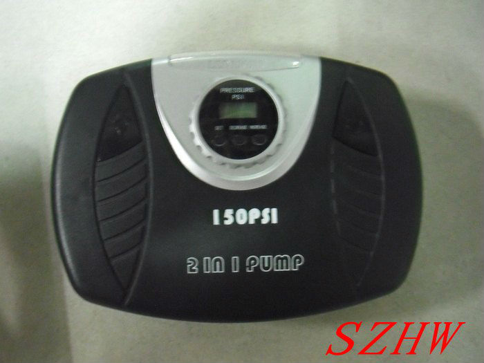 Compact stylish Car air pump NE-615, digital display pressure and 3 LEDs light , 2 in 1, 120W, 150PSI, free shipping<br>