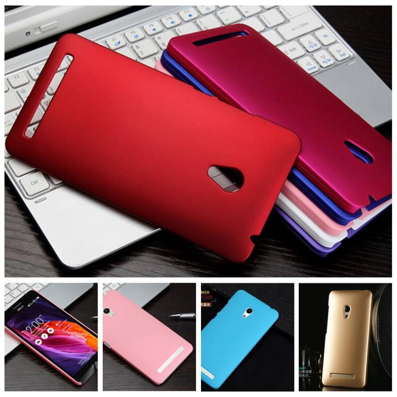 2pcs Super Silm matte cover for Asus zenfone 5 frosted hard plastic protective case + 1x screen film for free accept mix-colors(China (Mainland))