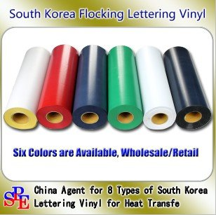Free Shipping 0.5X25m One Full Roll for Flocking Heat Transfer Vinyl Film(China (Mainland))