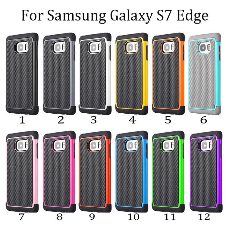 100pcs/lot 2 in 1 Protective Hybrid Combo Football Heavy Duty Hard Skin Case For Samsung Galaxy S7 Edge Robert Phone Cover(China (Mainland))