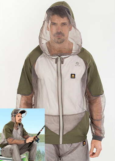 Outdoor mens Mosquito Prevent Suit top camping Hiking Net mesh clothes set fishing services dry breathable Hooded jacket+pantsОдежда и ак�е��уары<br><br><br>Aliexpress