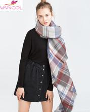 Women Za** 2015 Winter Tartan Scarf Blanket Plaid Scarf Designer Acrylic Shawls and Scarves Women's Big Size Scarves