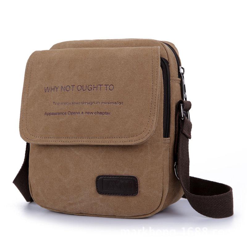 In 2016,Canvas Vintage Bag Men Shoulder Crossbody Bags ,4 colors men Small Bag Designer Handbags Bolso New Men Messenger Bags(China (Mainland))