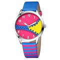 relogios femininos de marca Kezzi Fashion Women Wristwatch Leather strap Analog Girl Kids Student Display Quartz