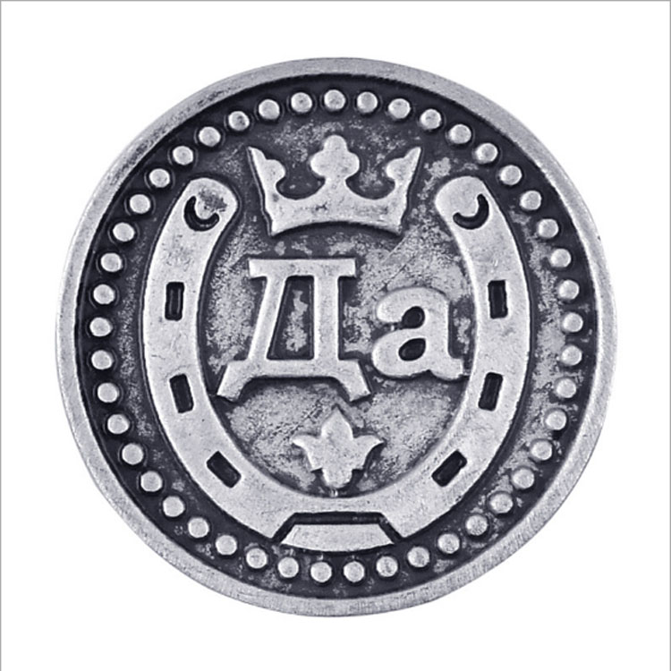 """Unique Carved """"yes """"or"""" no """"Coins Collections Copy Horseshoe Embossed Russia Metal Coins Original Replica Charms(China (Mainland))"""