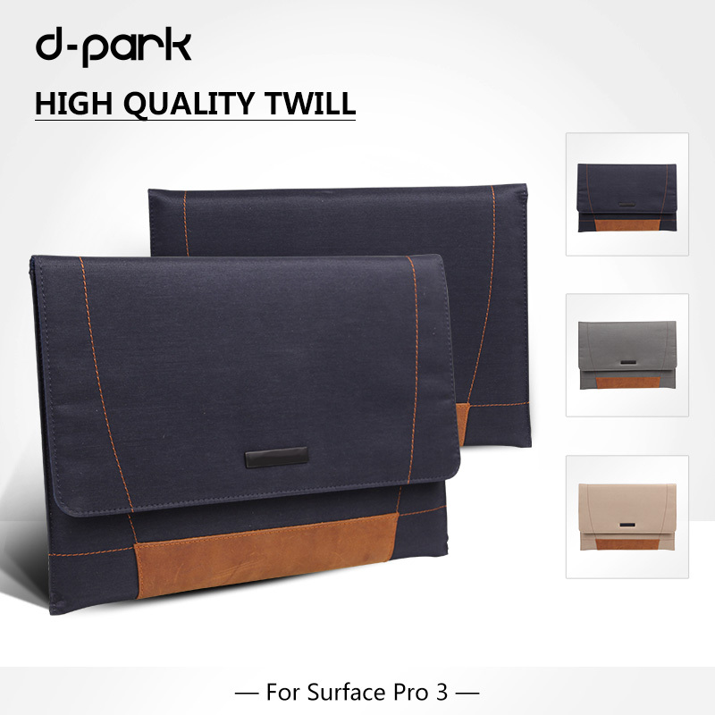 "D-park Microsoft Surface pro 3 laptop bag / case, bag for notebook 12"" inch, sleeve for surface pro 3 12"" inch(China (Mainland))"