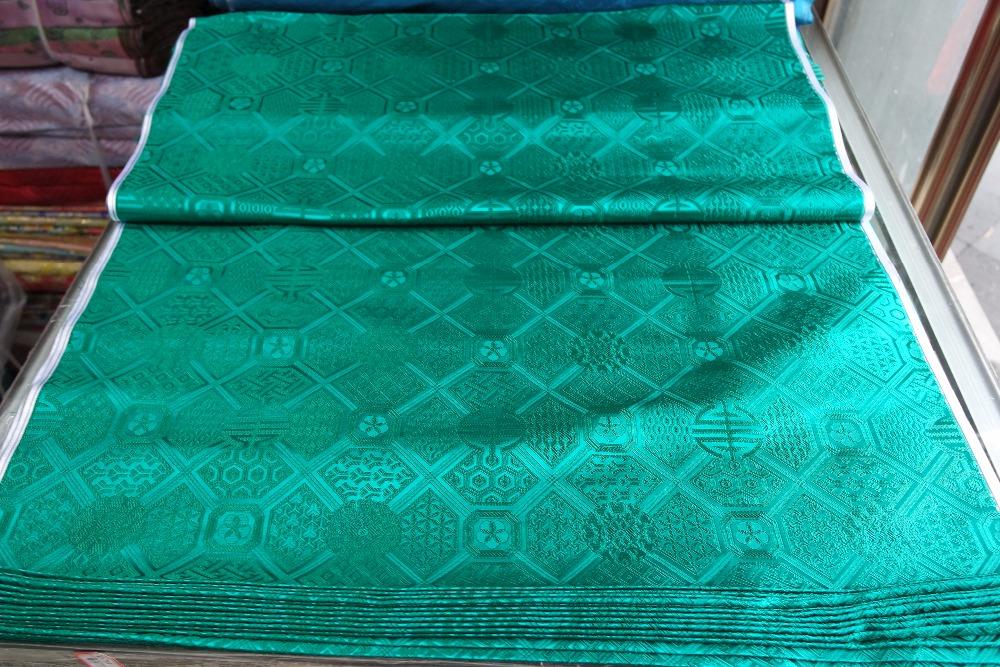 chinese silk brocade fabric cheongsam cushion Emerald green box circle Honeycomb shape hexagon 2016 new pattern(China (Mainland))