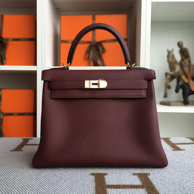 CUSTOM Togo 28CM h55 rouge GOLD HARDWARE luxury handbags women bags designer famous brands women bag<br><br>Aliexpress