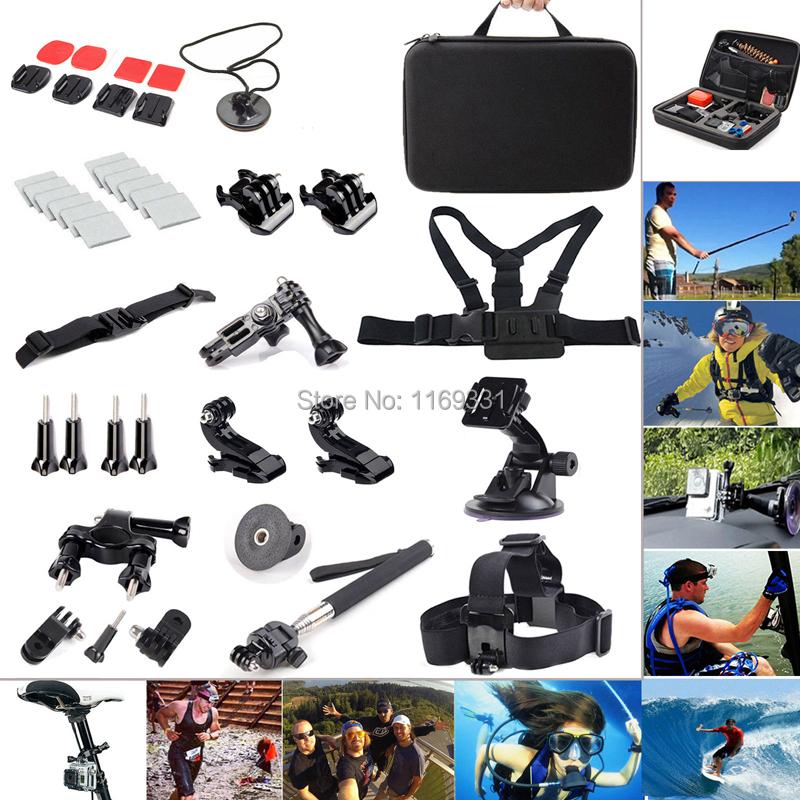 Фотография Accessories 20 in1 Outdoor Sports Kit Set for GoPro Go pro Hero 4 3+/3/2 Black Silver