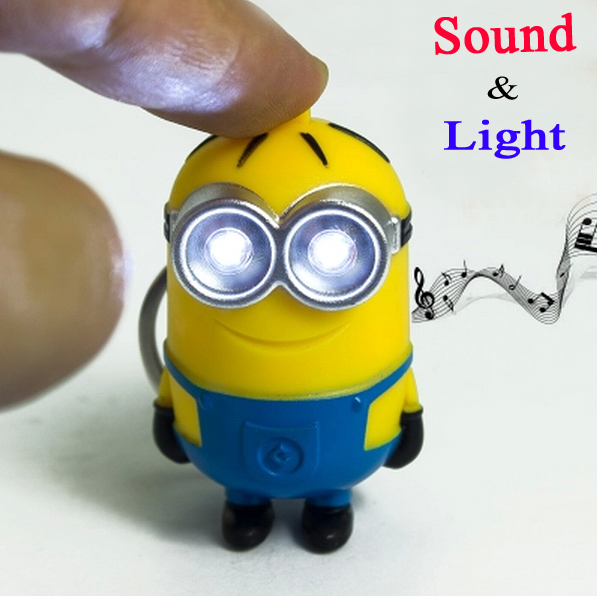 Гаджет  2015 New Minions Toys Cartoon Movie Despicable Me 2 3D Mini Minion Keychains PVC Action Figure Toys Retail And Wholesale None Игрушки и Хобби