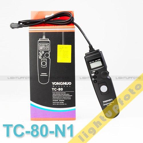 Timer remote cord for Nikom D700 D300 D200 D100 D3 D3X TC-80 N1 PCAR2TC80-N1(China (Mainland))