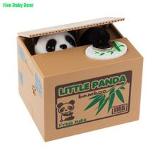 Panda Coin Bank Automated Steal Coin Piggy Bank Money Saving Box Moneybox For Kids Gifts(China (Mainland))