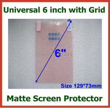 20pcs Universal 6 inch Anti-glare Matte Screen Protector Protective Film with Grid for Mobile Phone GPS MP4 PDA Size 129x73mm