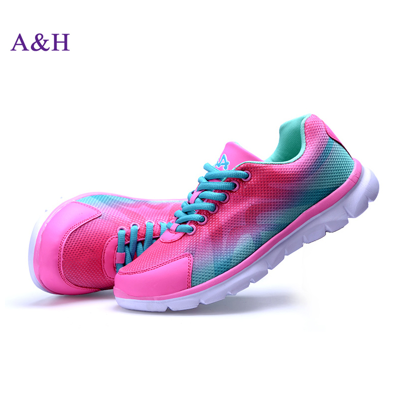 2015 New fashion running shoes for women Breathable Mesh sneakers women Walking shoes Woman athletic shoes Free Shipping(China (Mainland))