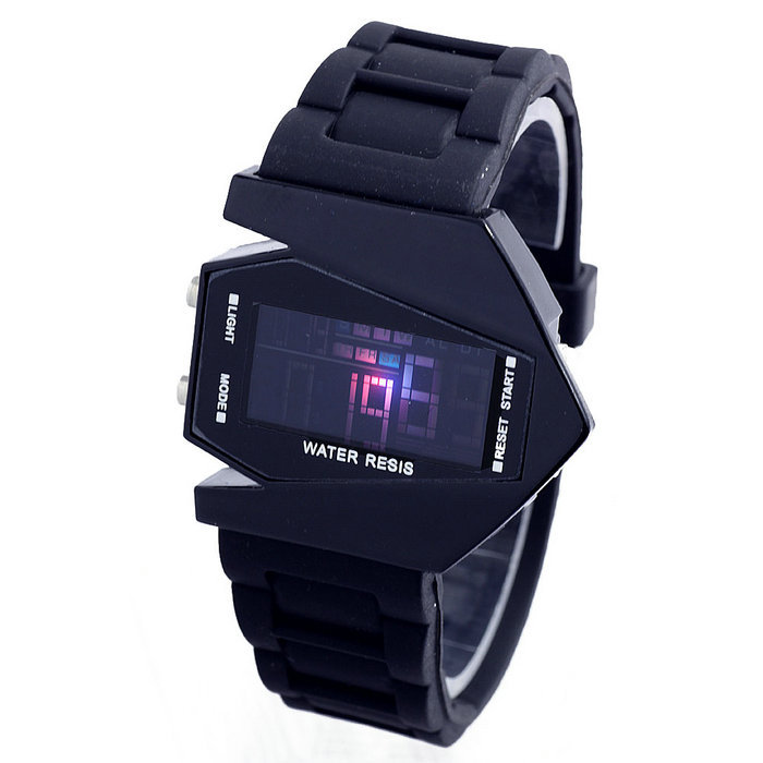fashions airplane shaped led watches sports