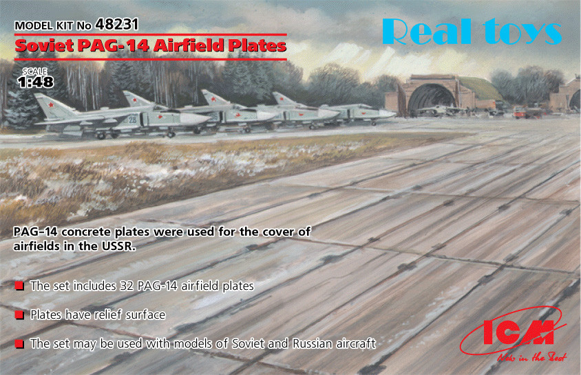 ICM model 48231 1/48 Soviet PAG-14 Airfield Platesplastic model kit(China (Mainland))