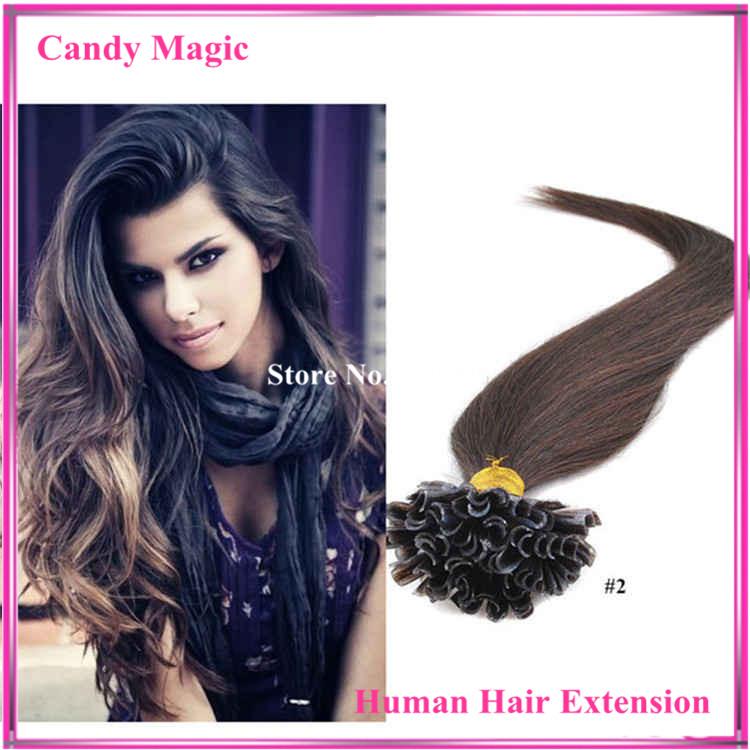 Indian Virgin Hair Extension 18-28 1g/strand U Tip Hair Extensions Human No Tangle No Shedding Unprocessed Virgin Hair<br><br>Aliexpress