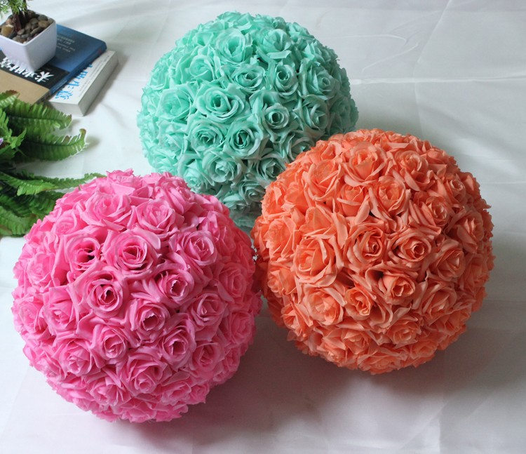2019 Wholesale 12inch30cmtiffany Blue Hanging Decorative Flower Ball