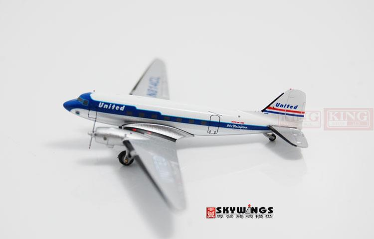 GJUAL1109 GeminiJets United Airlines N814CL 1:400* DC-3 commercial jetliners plane model hobby(China (Mainland))