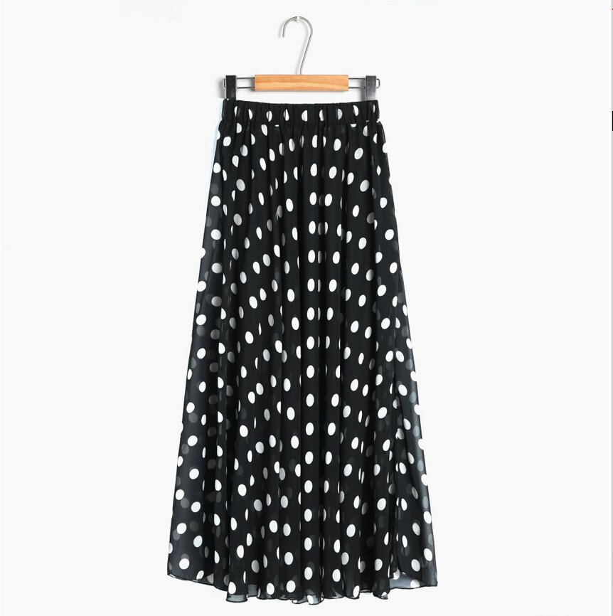 2015 skirts womens summer fashion polka dot print