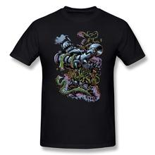 Printed 100% Cotton men T Shirt Plant vs Machine Free Shipping Normal Men t-shirt