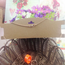 Buy Hot Wholesale 21*6cm Kraft Paper Pendant Necklace/Hair Accessories tag Card Jewelry Display Card Custom Logo Will Cost Extra for $12.79 in AliExpress store
