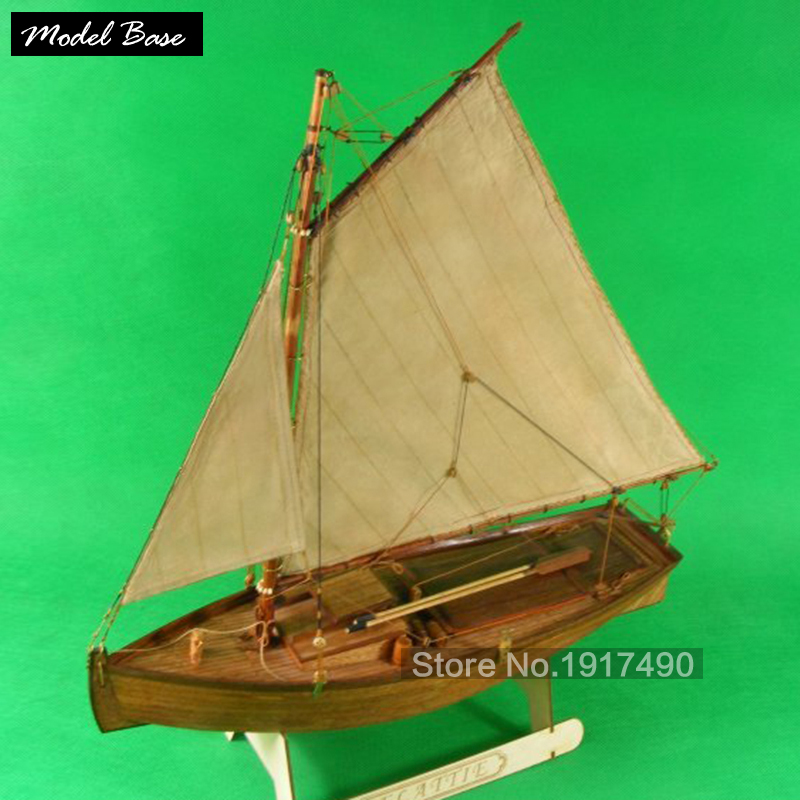 Wooden Ship Models Kits 3d Laser Cut Scale 1:20 Model-ShipTrain Hobby Flattie Phil Wright A Unique Small Mast Sailing Ship Model(China (Mainland))
