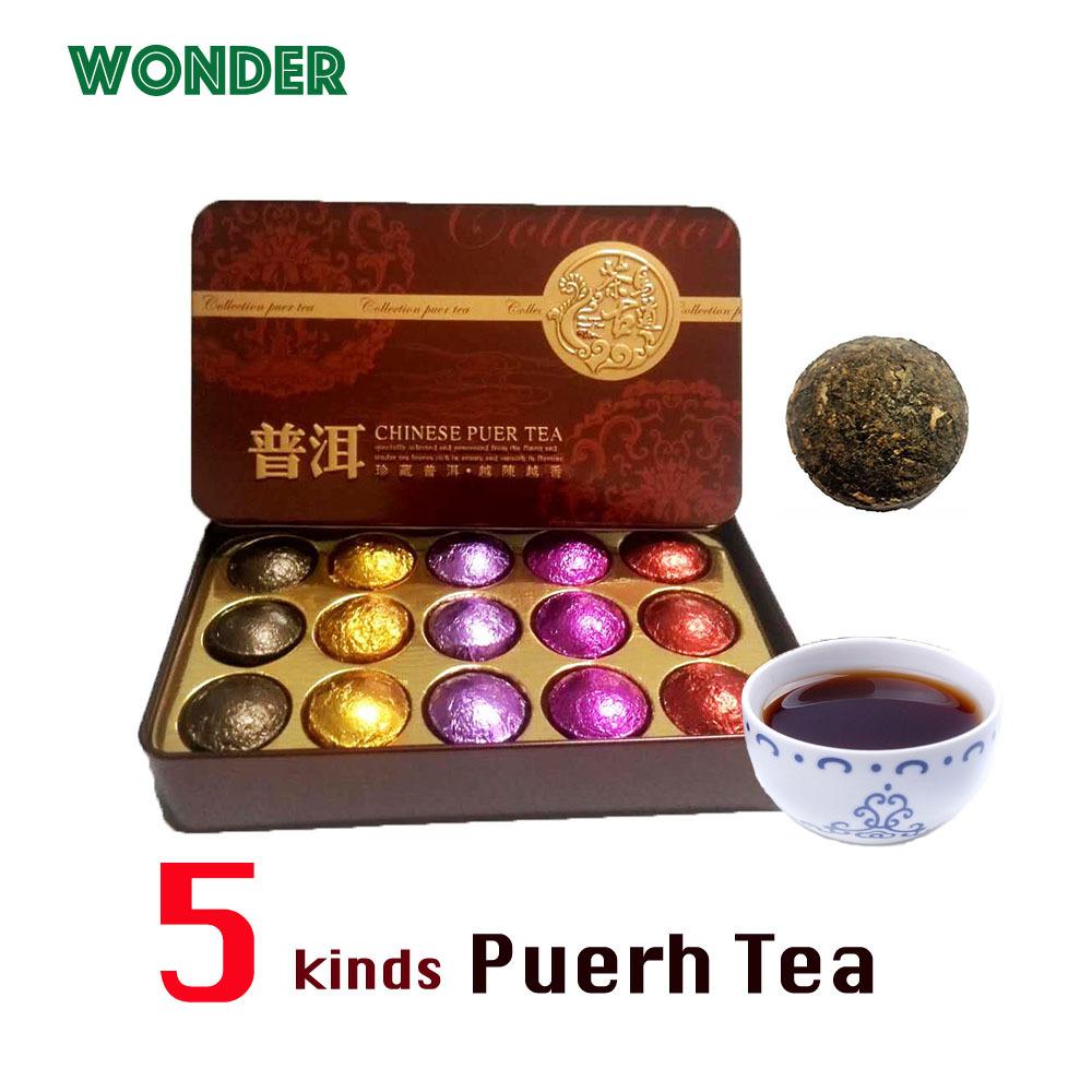 Chinese puer tea puerh pu erh tea slimming lose weight chrysanthemum rose jasmine lotus tea gift