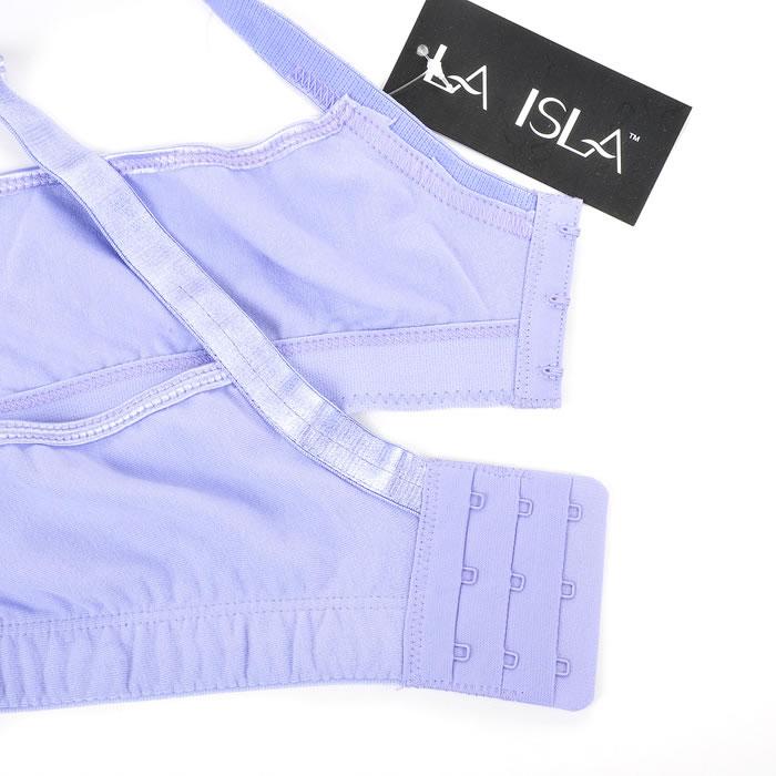 Lace Full Coverage Wireless Non Padded Cotton bra/intimates Black White Grey Purple Band 36 38 40 42 44 46 48 Cup B C D DD DDD