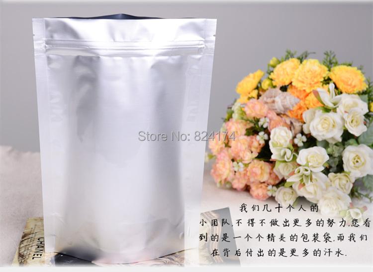 21x31cm 8.27''x12.2'', Stand up Silver aluminium foil ZipLock bag, Reusable aluminizing mylar pouches zipper Grip Seal(China (Mainland))