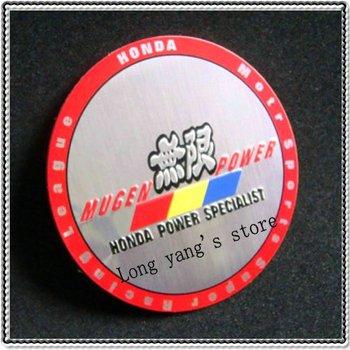 Free shipping 50set/lot 3D wheel center cap 3D center wheel Sticker Badges Emblem 55.5mm & 56.5mm for  MUGEN