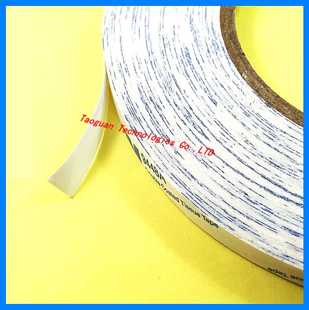 1 Roll 2mm White Double Side Adhesive Sticker Tape For Huawei HTC Ipad ZTE Xiaomi font