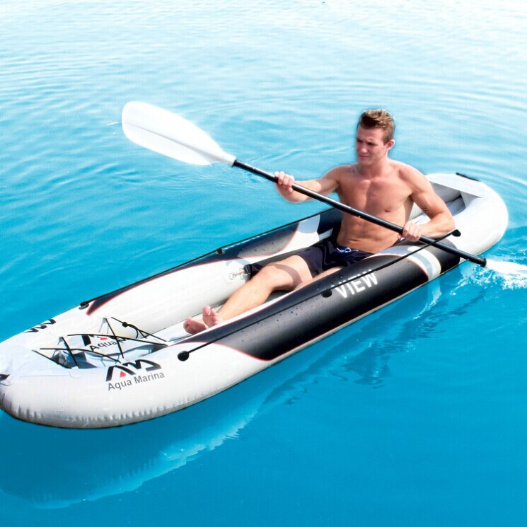 AQUA MARINA music draw new kayak single person inflatable boat dinghy thick double canoe 1/2(China (Mainland))