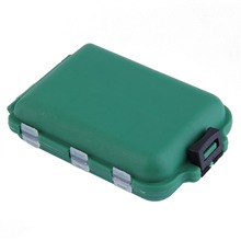 Delicate Army Green Plastic Fishing Tackle Boxes Hook Compartments Storage Case Outdoor Fishing Swivels Lure Bait Storing Tool(China (Mainland))