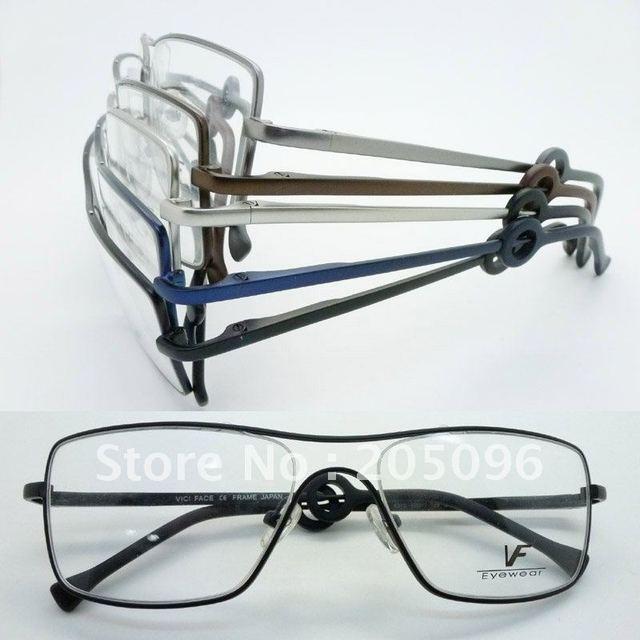 Wholesale VF6319 stainless steel big bending degree no welding Conjoined full-rim prescription eyeglasses frame free shipping