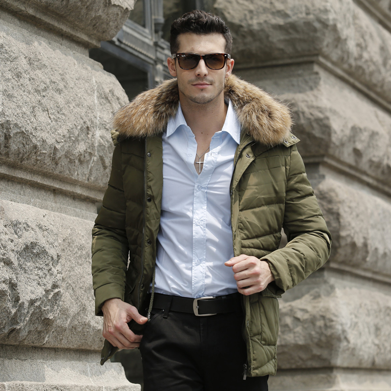 2015 Brand Winter Jackets Mens Fashion Solid Thick Warm Winter Coat Men Slim Parka Single Breasted