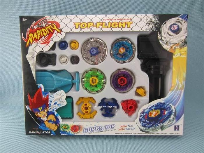 1 set 4D Launcher Beyblade Grip Fusion Top Metal Beyblade Kid children fun toys gift Sent with original box(China (Mainland))