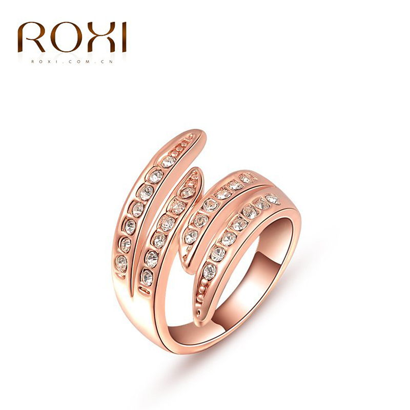 ROXI Christmas Gift rose gold/White gold plated plated ring,Austrian Crystals Ring Nickle free Antiallergic Factory prices