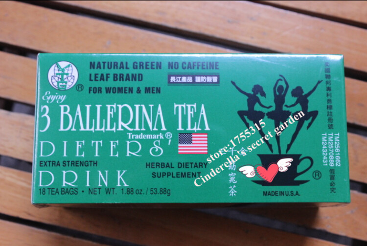 free shipping 3 ballerina tea Healthy And Natural fat remove herbal silmming tea organic dotox tea slim fit tea diet tea(China (Mainland))